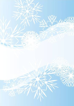 snowflakes abstract vector blue backdrop