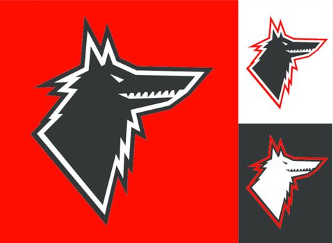 Wolf head icon