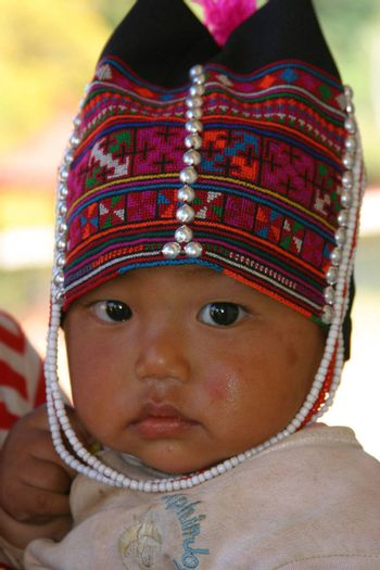 Young baby of the Akha people in Thailand