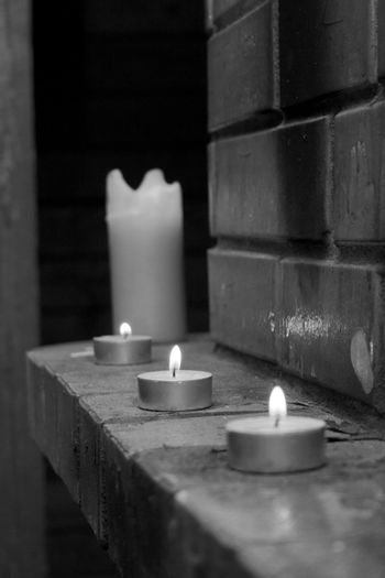 White black foto maded  about candles