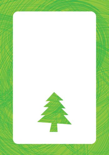 Greeting for text with christmas tree background