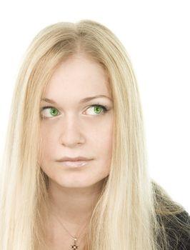 pretty green-eyed blonde