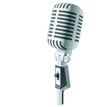 Vector illustration of a retro microphone