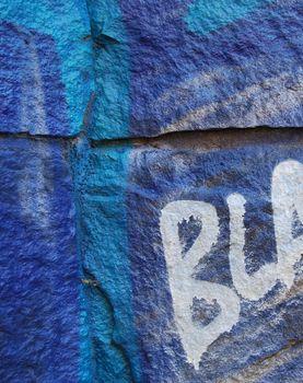 Blue grafitti