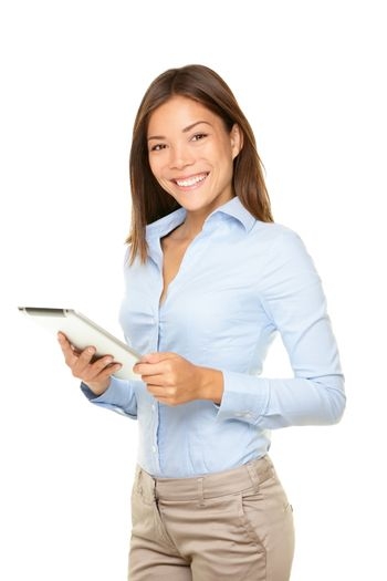Business woman tablet computer