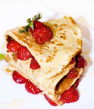 Strawberry pancake