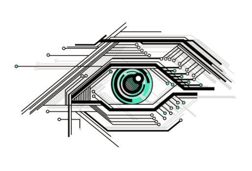 conceptual tech stylized eye