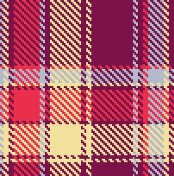 Seamless checkered vector red, blue, yellow, violet pattern