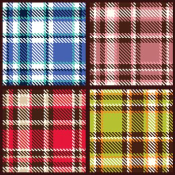 set of seamless checkered vector pattern