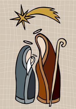 Christian nativity illustration