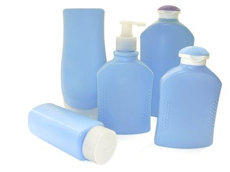 set of five bottles for bathroom