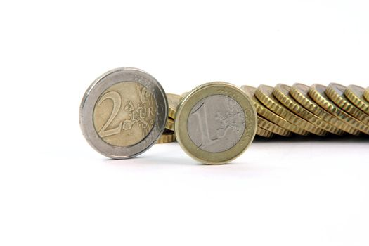 one and two eurocoins