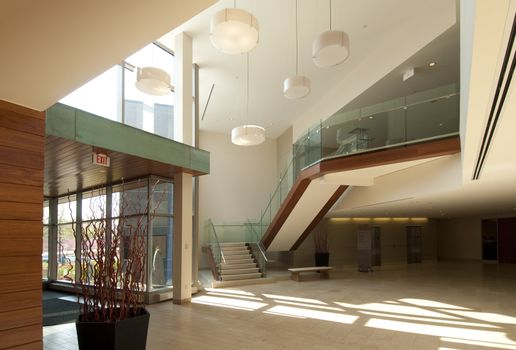Modern commercial building interior