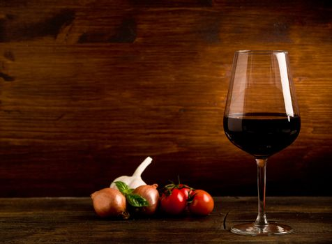Wine Goblet with fresh ingredients