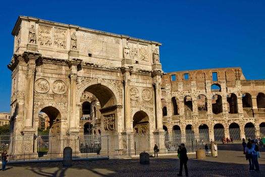 Colosseum and Constantines Arch