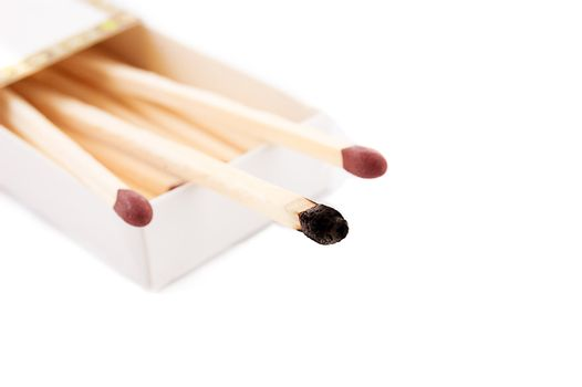 Intact and burnt matches