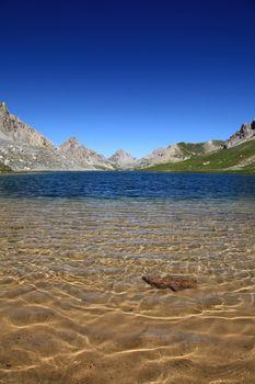 Translucent lake of mountains