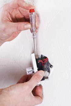 Fitting light switch
