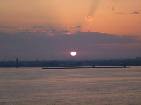 Sun set on a perfect summer night
