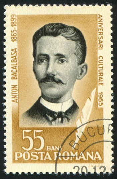 ROMANIA - CIRCA 1965: stamp printed by Romania, show Anton Bacalbasa, writer, circa 1965.