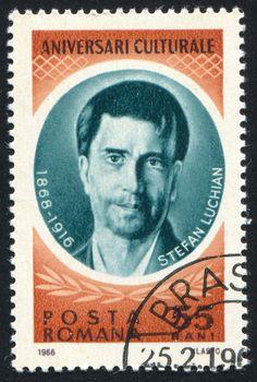 ROMANIA - CIRCA 1966: stamp printed by Romania, show Stefan Luchian, circa 1966.
