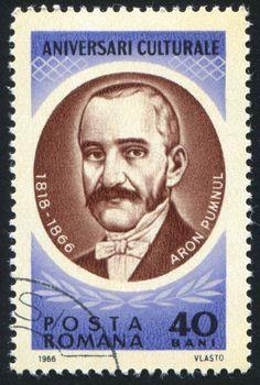ROMANIA - CIRCA 1966: stamp printed by Romania, show Aron Pumnul, circa 1966.