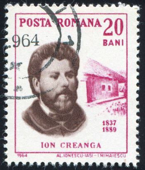ROMANIA - CIRCA 1964: stamp printed by Romania, show Ion Creanga, circa 1964.