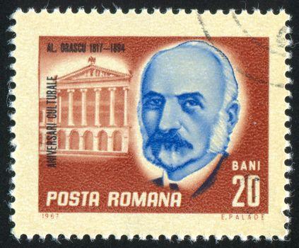 ROMANIA - CIRCA 1967: stamp printed by Romania, show Orascu, architect, circa 1967.