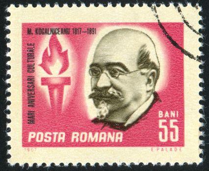 ROMANIA - CIRCA 1967: stamp printed by Romania, show Kogalniceanu, statesman, circa 1967.