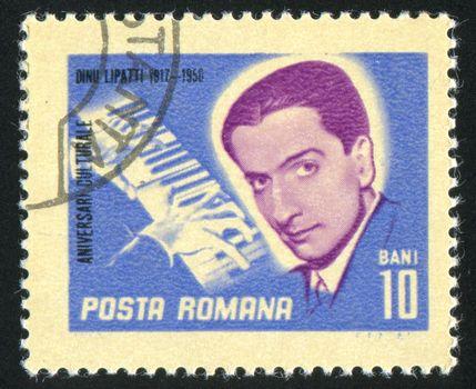 ROMANIA - CIRCA 1967: stamp printed by Romania, show Dinu Lipatti, Pianist, circa 1967.
