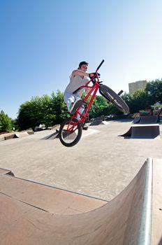 BMX Bike Stunt bar spin