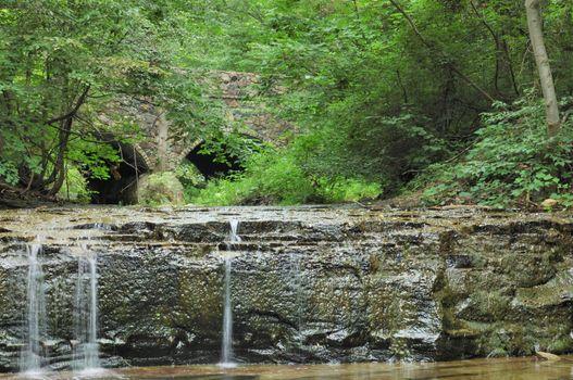Low running stream in the summer months.