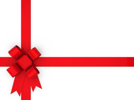 3d loop red gift ribbon christmas birthday