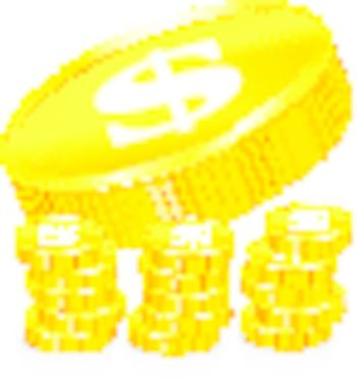 Stacks of gold coins, vector illustration on white