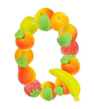 alphabet from fruit, the letter Q