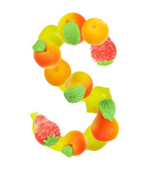 alphabet from fruit, the letter S