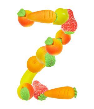 alphabet from fruit, the letter Z