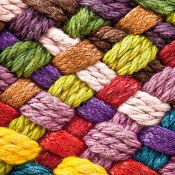 multi colored woollen yarns