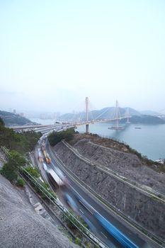 highway and Ting Kau bridge