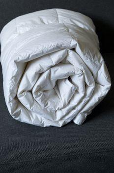 Detail of down comforter