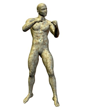 Boxer statue made of stone