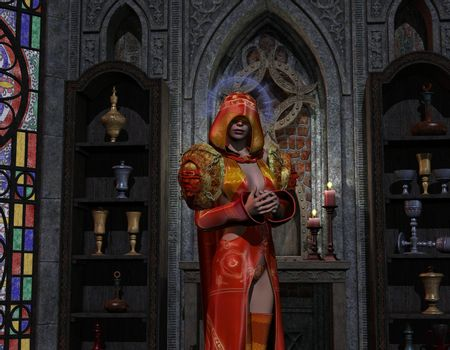 Necromancer at the altar