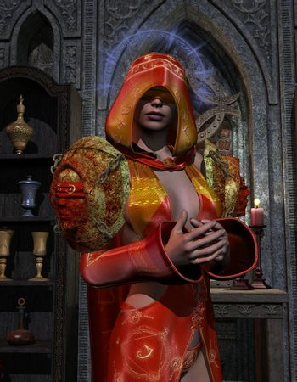 Blind holy priestess