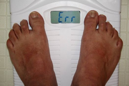 People weight scale indicating an error instead of weght