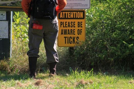 Hiker taking the advice and prepared for the worst