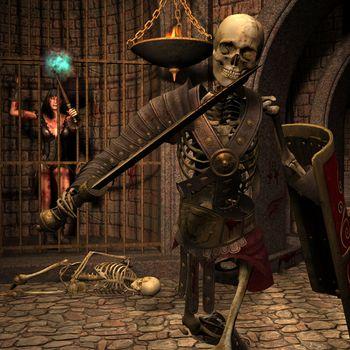 Skeleton warriors in the Dungeon