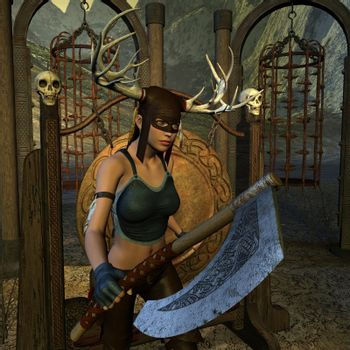 The hunter with Battleaxe