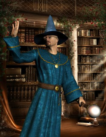 Magician in the library