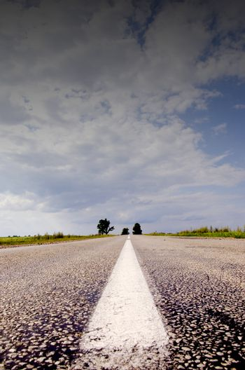 countryside road and sky background iin summer