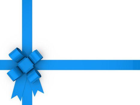 3d loop blue gift ribbon christmas birthday